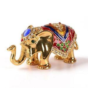 Trinket Holder// Russian Elephant enamel box